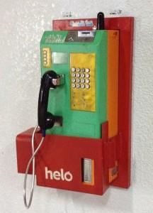 マレーシアの駅にある公衆電話