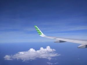 インドネシア空と飛行機